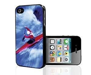 Red and Blue Kiyaking Water Sport Art Hard Snap on Phone Case (iPhone 4/4s)