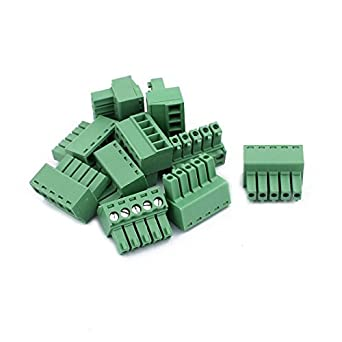 eDealMax 10Pcs 300V KF2EDGK 3.5mm Pitch 5-Pin PCB tornillo del bloque de terminales del conector: Amazon.com: Industrial & Scientific