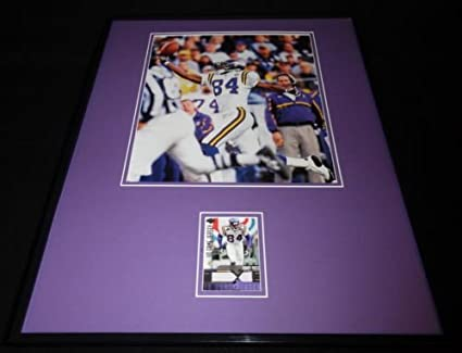 brand new bec61 d7afd Randy Moss 16x20 Framed Game Used Jersey & Photo Display ...
