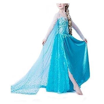 Frbelle® Disfraz de Vestido de Princesa Largo con Capa para Fiesta Noche Boda Ceremonia Cosplay