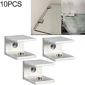 S Furniture fixing accessories 10 PCS Single Hole Aluminum Alloy Glass Fixing Clip 18mm