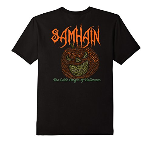 Samhain The Celtic Origin of Halloween Pumpkinhead T-shirt - Male 2XL - Black (The Origin Of Halloween Samhain)