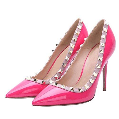 tachonadas del pie del en tacón de de ciel mujeres bombas dedo alto zapatos en punta las Arc Rosa 4q7Yzw