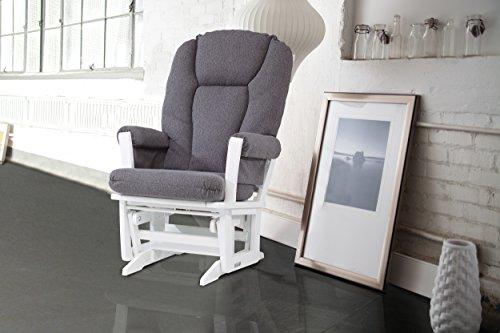 Dutailier Modern Glider, White/Dark Grey by Dutailier