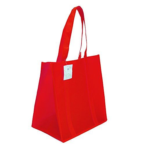 Grocery Tote Bag, Large & Super Strong, Heavy Duty Shopping Bags with Stand-up PL Bottom, Non-Woven Conventional Reusable Tote Bags, Premium Quality (Set of 5, (Reusable Recyclable Tote Bag)