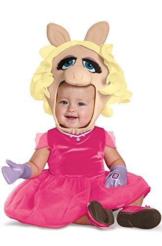 Disguise Baby Girls' Miss Piggy Infant Costume, Pink, 12-18 Months