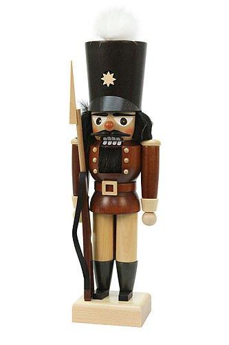 German Christmas Nutcracker Soldier natural colors - 30,0 cm / 12 inch - Authentic German Erzgebirge Nutcrackers - Christian Ulbricht