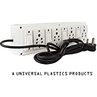 Hi-PLASST (4+4) Extension Board Multi Outlet Electrical Switch Board with 4 Anchor Sockets(5A) and 4 Anchor Switches(5A)-4Mtr Long Wire Power Strip Surge Protector