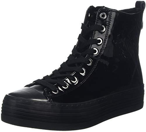 Patent Zazah Baskets Noir 000 Jeans black Hautes Femme Klein Calvin qwBptt