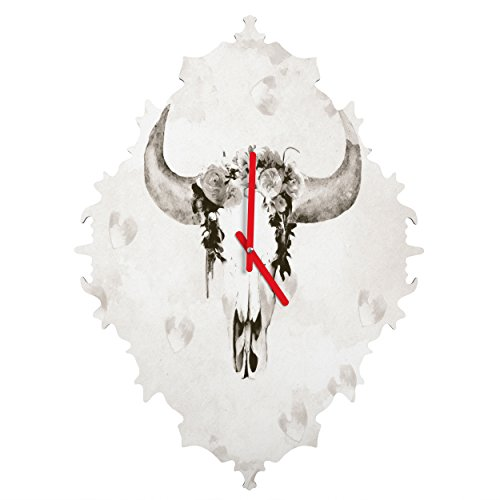 Deny Designs Kangarui, Romantic Boho Buffalo Iii, Baroque Clock, Medium by Deny Designs