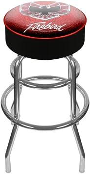 Trademark Global Pontiac Firebird Padded Swivel Bar Stool, Black