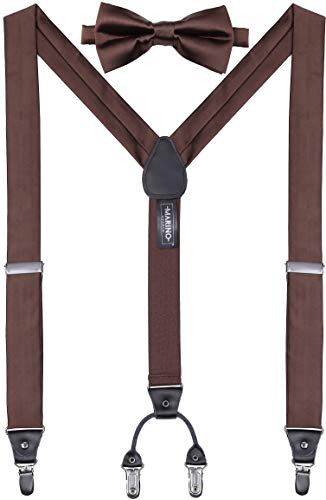 (Mio Marino's Bow Tie and Suspenders for Men - Silk - Y-Back)