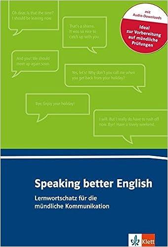 Speaking Better English Buch Online Angebot Amazonde Rolf