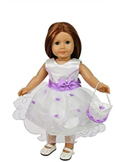 Amazon.com: Dress Along Dolly Clothes for American Girl Dolls (4 ...