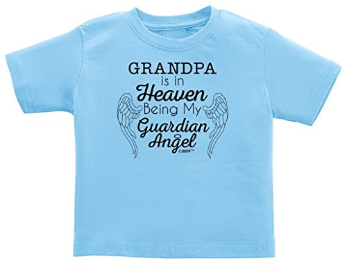 Grandpa in Heaven Being Guardian Angel Infant T-Shirt 18 Months Light Blue