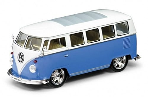 1962 Volkswagen Classical Bus Low Rider Blue 1/24 by Welly