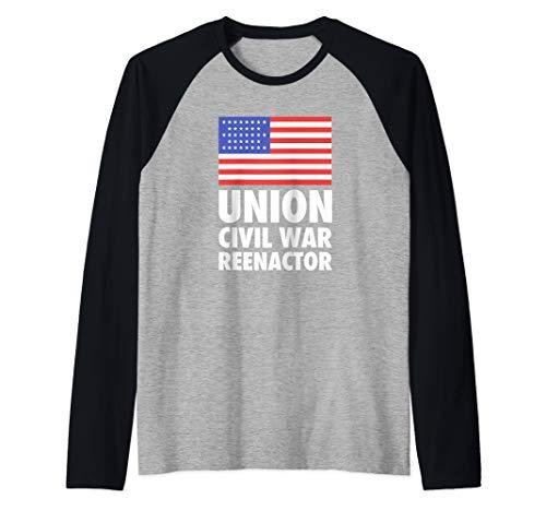 Union - American History Civil War Reenactor Raglan Baseball Tee