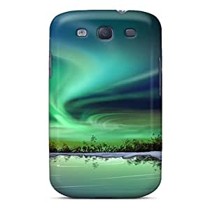 Premium Northern Lights Iphone Wallpaper Back Cover Snap On Case For Galaxy S3