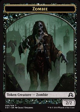 - Magic: the Gathering - Zombie Token (005/018) - Shadows Over Innistrad