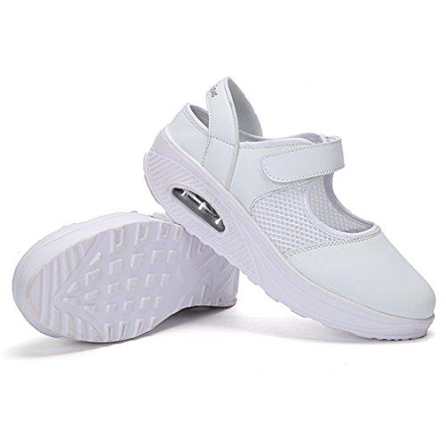 Eté Sport Compensées Bateau Blanc Pour Espadrilles Mary Sandales Mailles Chaussures De Femme Janes Mode Hishoes Baskets wqU61CFxO