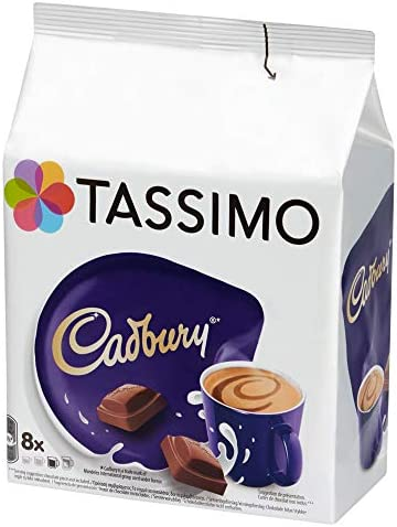Tassimo Cadbury Hot Chocolate Drink Pack Of 5 Total 40 Pods 40 Servings
