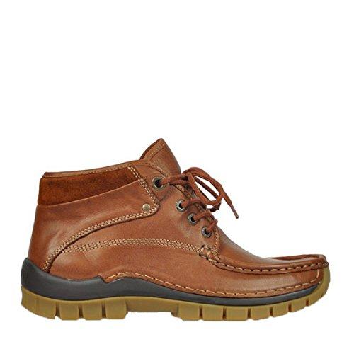 Wolky Donna Sneaker Cognac 243 Leder Marrone TTafr