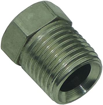 7//16-24 Inverted Flare STAINLESS STEEL Tube Nut Fitting 1//4 Brake Line 12PC Set