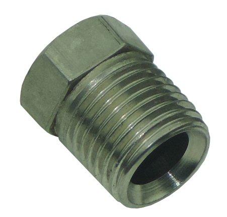 (7/16-24 Inverted Flare STAINLESS STEEL Tube Nut Fitting 1/4 Brake Line EA STN12 (D-3-4))