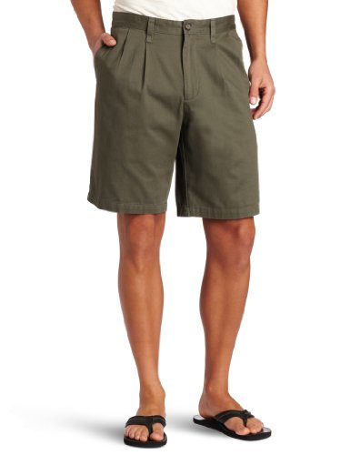 Dockers Men's Perfect Short D3 Classic-Fit Pleated Short - 33W - Oregano Green Pleated Shorts