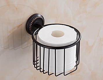 KIEYY El Negro De Toallas De Baño De Cobre Lleno De Toallas De Baño Baño Baño Racks Hardware Adornos De Baño, Toalla De Papel Y La Cesta: Amazon.es: ...