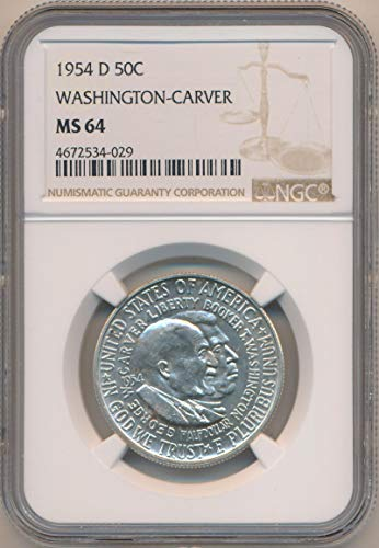 1954 D Half Dollar Washington Carver MS64 NGC ()