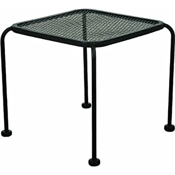 Wrought Iron 20u0026quot; Square Side Table