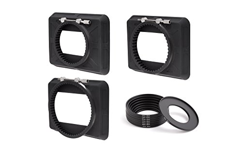 Wooden Camera - Zip Box Kit 4x5.65 (80-85mm, 90-95mm, 110-115mm, Adapter Rings) by Wooden Camera