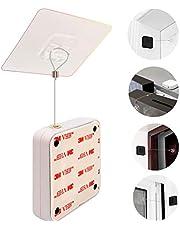 Automatische Deurdranger,Punch-Free Automatische Sensor Deurdranger,Mini-deurDranger Voor licht Gebruik,Zelfsluitende Deur Met Trekkoord,Automatisch Sluit All Deuren,Geschikt Voor Home Office Slaapkam (wit)