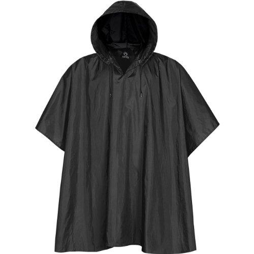 Stormtech Unisex Packable Water Resistant Rain Poncho (One Size) (Black)