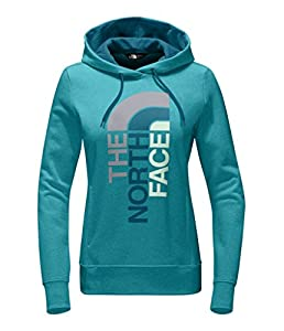 The North Face Women's TrIVert Pullover Hoodie - Vistula Blue Heather/Egyptian Blue Multi - L