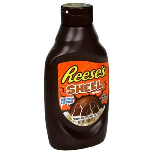 Reese's Peanut Butter Shell Topping,7.25-Ounce Bottle (Pack of 3)