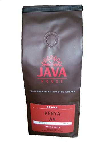 Kenya AA Coffee Beans - Specialty As a rule Bean Coffee. Medium Roast Kenyan Coffee. Fair Trade, Single Source Kenya AA Coffee with verifiable Coffee Kenya Mark of Origin, by Java House Africa (13.23oz)