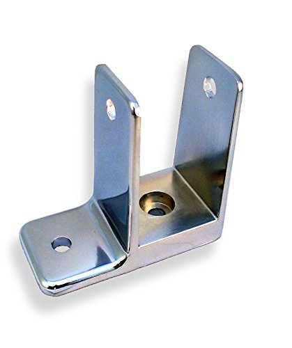 Chrome Plated One Ear Wall Bracket for 1-1/4