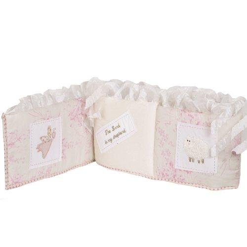 (Cotton Tale Designs Heaven Sent Bumper, Pink/Cream)