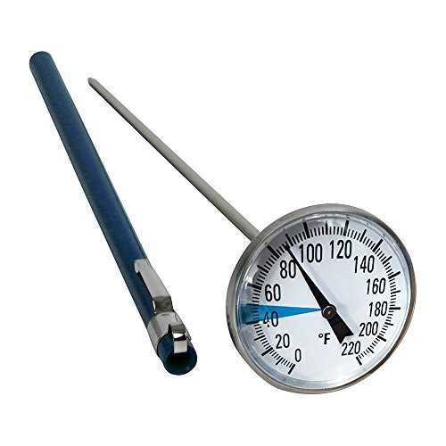 Stainless Steel Soil Thermometer by Smart Choice| 127mm Stem, Easy-to-Read 1.5