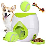 Pet Interactive Toys Dogs Puzzle Food Dispenser Tennis Ball Throwing Fetch Machine FDA Cat Reward Toy Game Animal Training Tool Pets Slow Feeder Bowl (Green New) (Green) (Green)