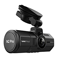 "Vantrue N2 Pro Uber Dual Dash Cam Dual 1920x1080P Front and Inside Dash Camera (2.5K 2560x1440P Single Front) 1.5"" 310° Car Camera w/Infrared Night Vision, Sony Sensor, Parking Mode, Support 256GB max"