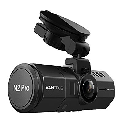 Vantrue N2 Pro Dual Dash Cam for Uber/Lyft 1920x1080P Front and Rear Dash Cam 310°  w/Infrared Night Vision, Sony Sensor, Parking Mode, Motion Detection & more