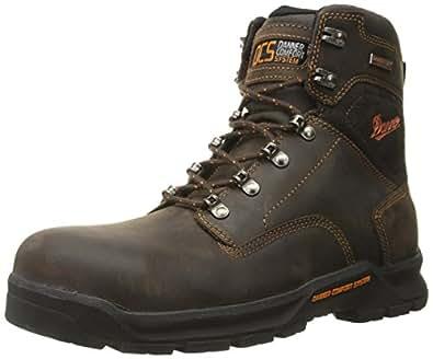Danner Men's Crafter 6 Inch Non-Metallic Toe Work Boot, Brown, 8 EE US