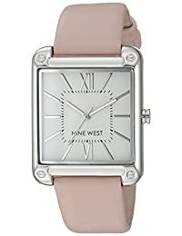 Nine West NW2117SVPK Reloj Análogo para Mujer, color Blanco/Rosa