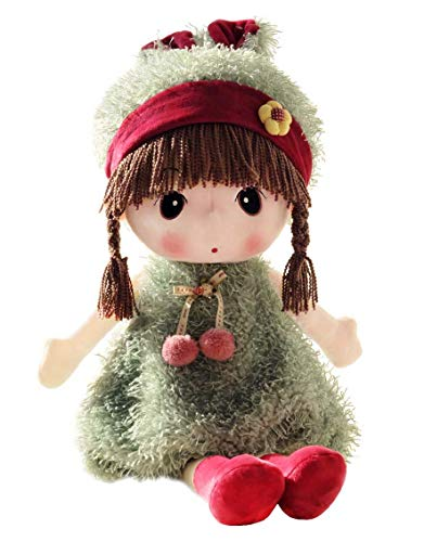 Dolly Toy Soft - HWD Kawaii 17 inch Stuffed Plush Girl Toy Doll.Good Dolly Gift for Kids Baby Lover.(Green)