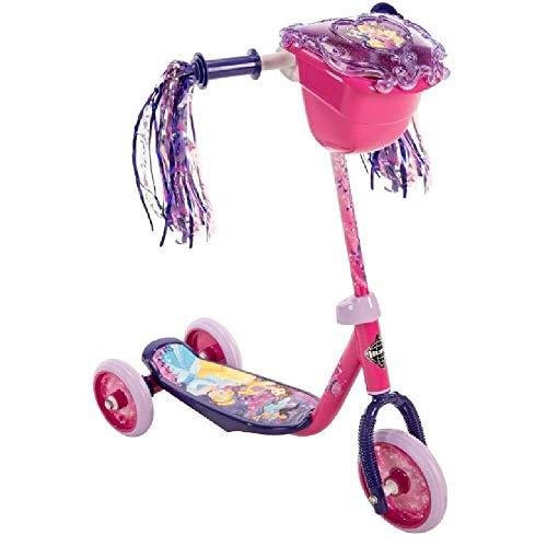 Huffy Disney Princess Girls Kids Toddler Preschool 3 Wheel Scooter with Basket ()