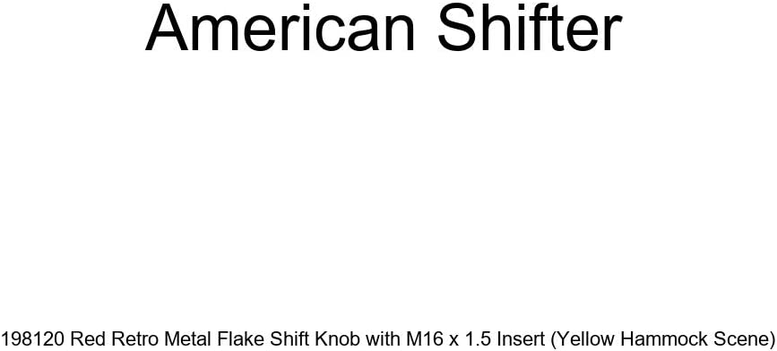 Uruguay Red Retro Metal Flake with M16 x 1.5 Insert American Shifter 308580 Shift Knob