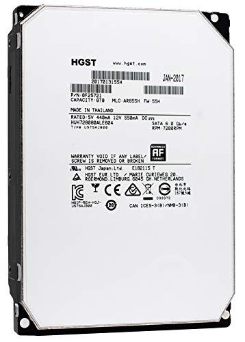HGST Ultrastar He8 | HUH728080ALE604 | 0F25721 | 8TB 7200RPM 128MB Cache SATA 6.0Gb/s 3.5-Inch | SE | 512e | Enterprise Server Data Center Hard Drive HDD (Renewed)